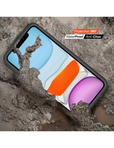 5 iPhone 11 - Funda resistente al agua y a los golpes - Serie WATERPROOF