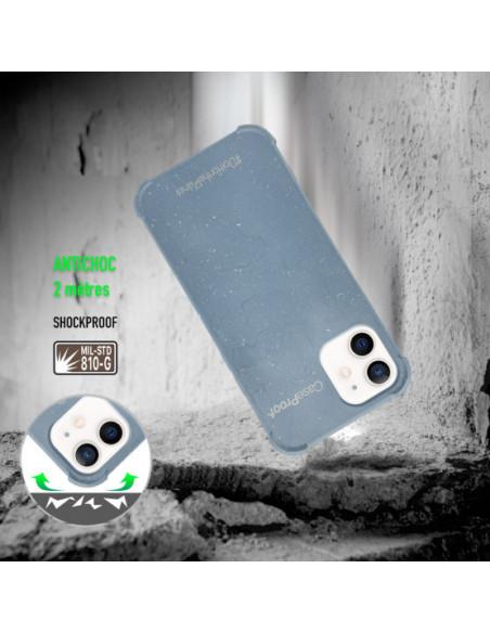 2 iPhone 11 - Funda Biodegradable Azul Serie BIO