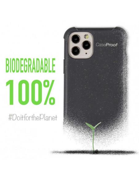 3 iPhone 11 - Funda Biodegradable Azul Serie BIO