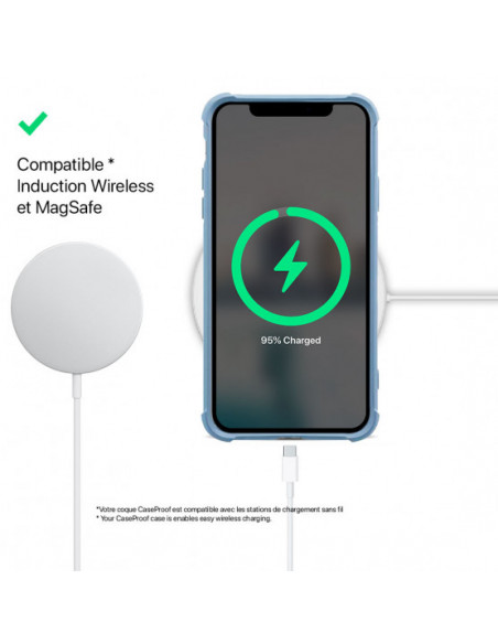 4 iPhone 11 - Funda Biodegradable Azul Serie BIO
