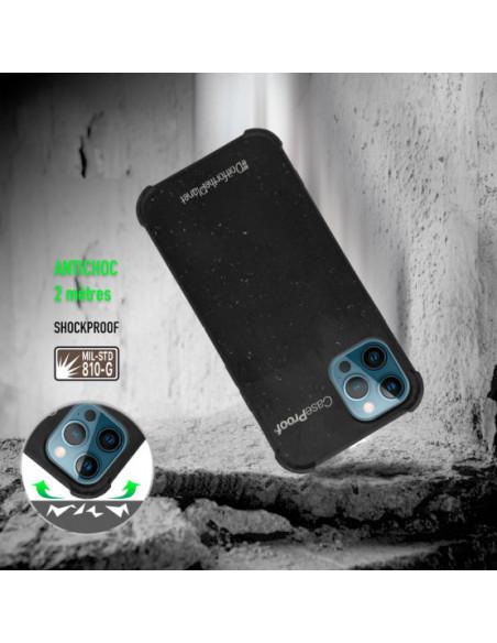 2 iPhone 12-12 Pro - Funda Biodegradable Negra Serie BIO