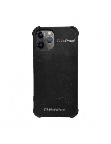 1 iPhone11P - Funda Biodegradable Negra Serie BIO
