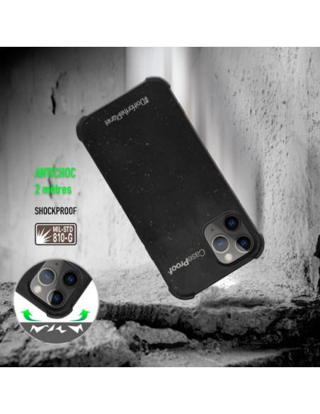 2 iPhone11P - Funda Biodegradable Negra Serie BIO
