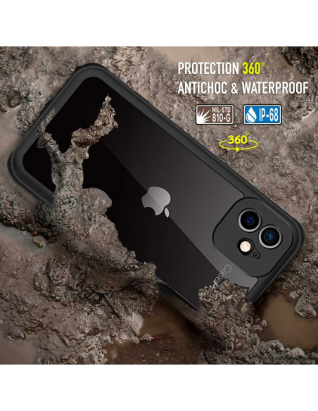 5 iPhone 12 Mini - Funda resistente al agua y a los golpes