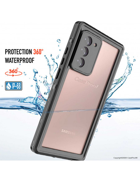 9 Samsung Galaxy Note 20 - Funda resistente al agua y a los golpes