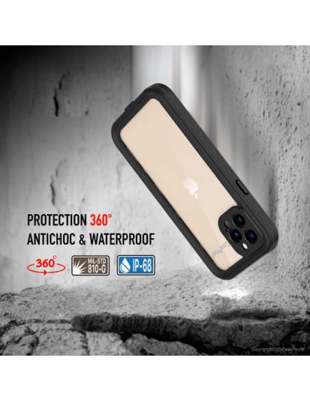 2 iPhone 12 Pro Max - Funda resistente al agua y a los golpes - Serie WATERPROOF