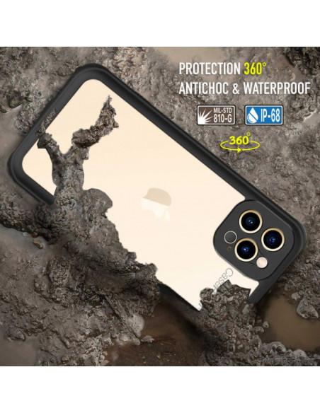 4 iPhone 12 Pro Max - Funda resistente al agua y a los golpes - Serie WATERPROOF