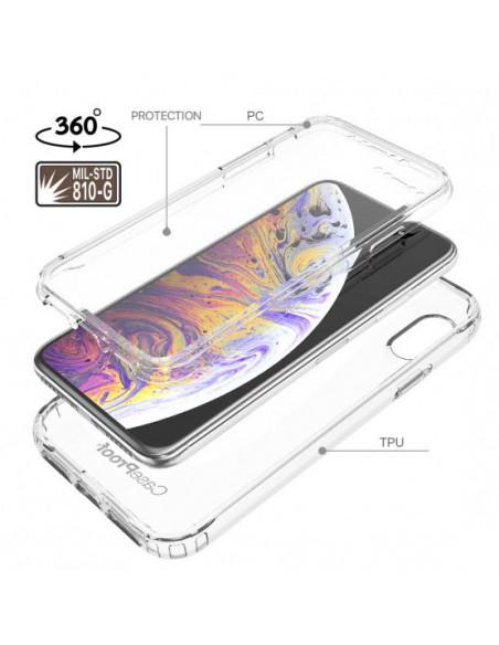 4 iPhone XS - Protección contra golpes de 360 grados - Serie Clear SHOCK